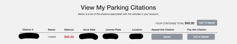 ハワイ大学駐車違反